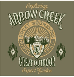 Arrow Creek the great outdoo vector image vector image
