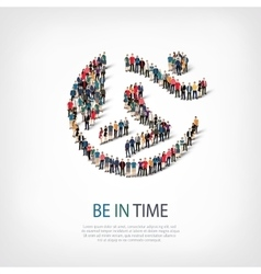 be in time people sign 3d vector image vector image