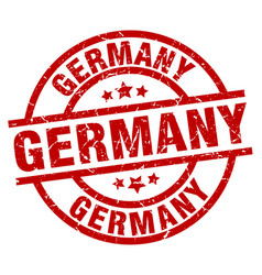 germany red round grunge stamp vector image vector image