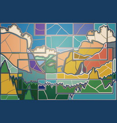 yosemite valley mosaic vector image vector image