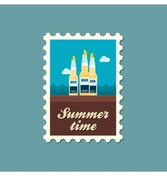 Beer bottle stamp Summer Vacation vector image vector image