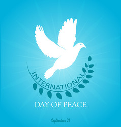 day of peace vector image vector image