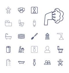 22 toilet icons vector