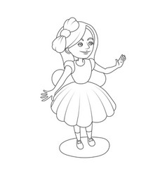 alice wonderland girl coloring book vector image