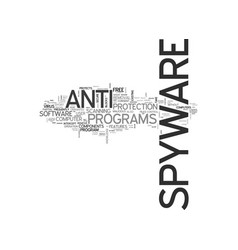 Anti spyware adware text word cloud concept vector