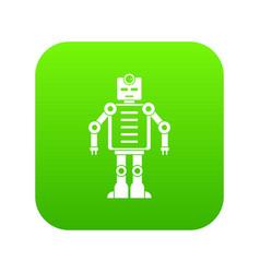 artificial intelligence robot icon digital green vector image