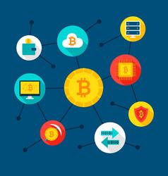 bitcoin digital concept vector image