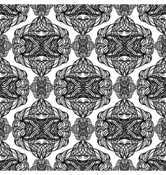 Black and white abstract seamless vector image