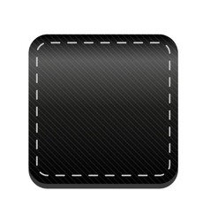 Black line button vector image
