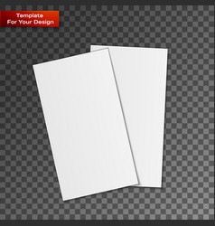 blank business cards on transparent background vector image