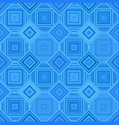 blue geometric diagonal square tile mosaic vector image