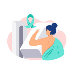 breast cancer awareness woman patient getting vector image
