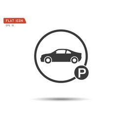 car parking sign this logo modern transport vector image