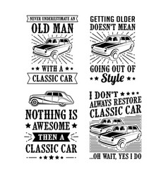 car quote saying set best for print design like vector image