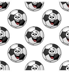 Cartoon football balls seamless pattern vector