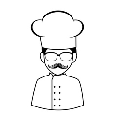 Chef hat uniform person vector