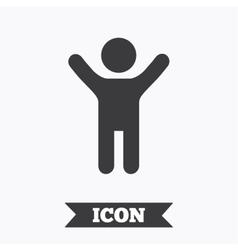 Child icon Happy young boy symbol vector image