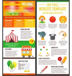 Circus website page vector image