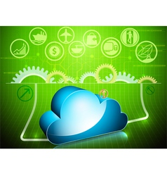 Cloud processing in progress vector