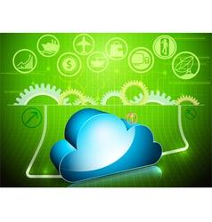 Cloud processing in progress vector image