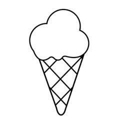 cold ice cream icon outline line style vector image