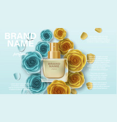 Cosmetics product perfume advertising for your vector