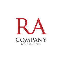 Creative ra letter logo vector