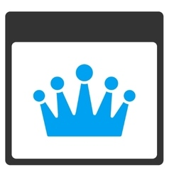 Crown Calendar Page Toolbar Icon vector image