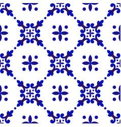 Cute blue pattern vector