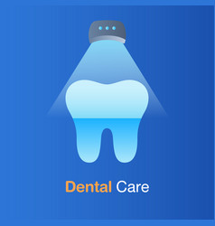 Dental care concept laser whitening vector