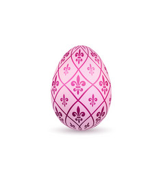 easter egg 3d icon color egg isolated white vector image