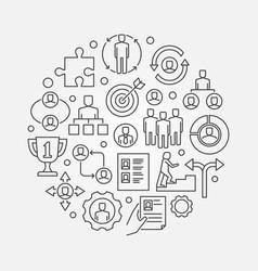 Employment and recruitment vector