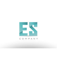 Es e s alphabet letter green logo icon design vector