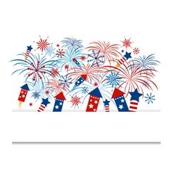 Fireworks design for independence day vector