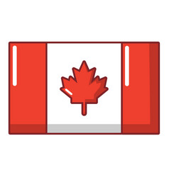 flag canada icon cartoon style vector image