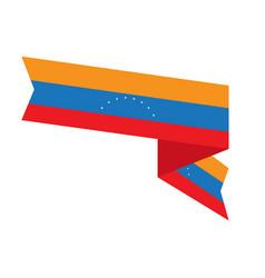 flag of venezuela vector image