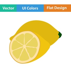 Flat design icon of Lemon vector
