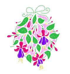 Flower arrangement for wedding vector