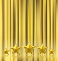 golden curtain vector image