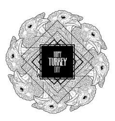 Graphic turkey design vector
