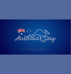Happy australia day celebration poster or banner vector
