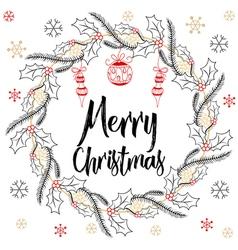 Holidays modern calligraphy Merry Christmas Hand vector image
