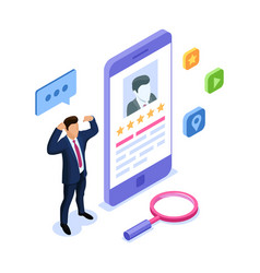 isometric with characters can use for web vector image