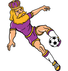 king sports logo mascot soccer vector image