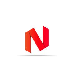 letter n logo icon shape concept design business vector image