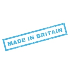 Made in britain rubber stamp vector