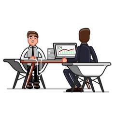 Man have an a job interview vector