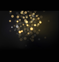 many bright blured lights on dark background vector image vector image
