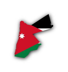 Map and flag jordan vector