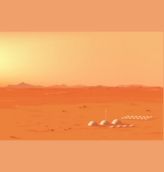 martian colony landscape vector image